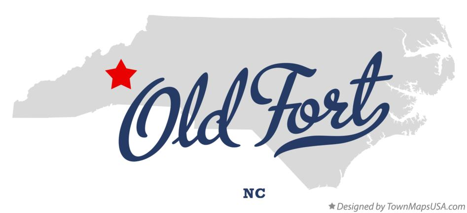 Old Fort Nc Map.Map Of Old Fort Nc North Carolina