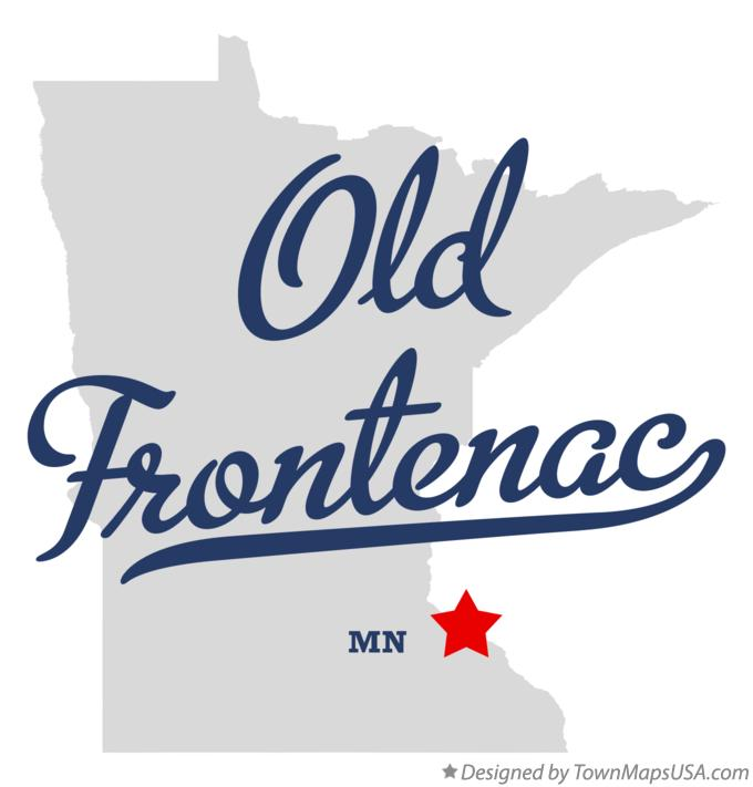 Map of Old Frontenac Minnesota MN