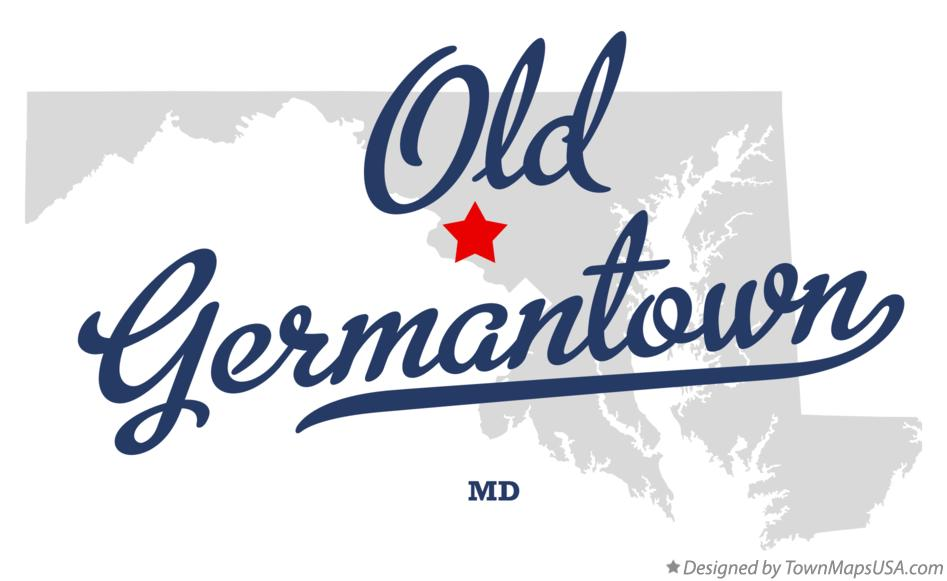 Map of Old Germantown Maryland MD