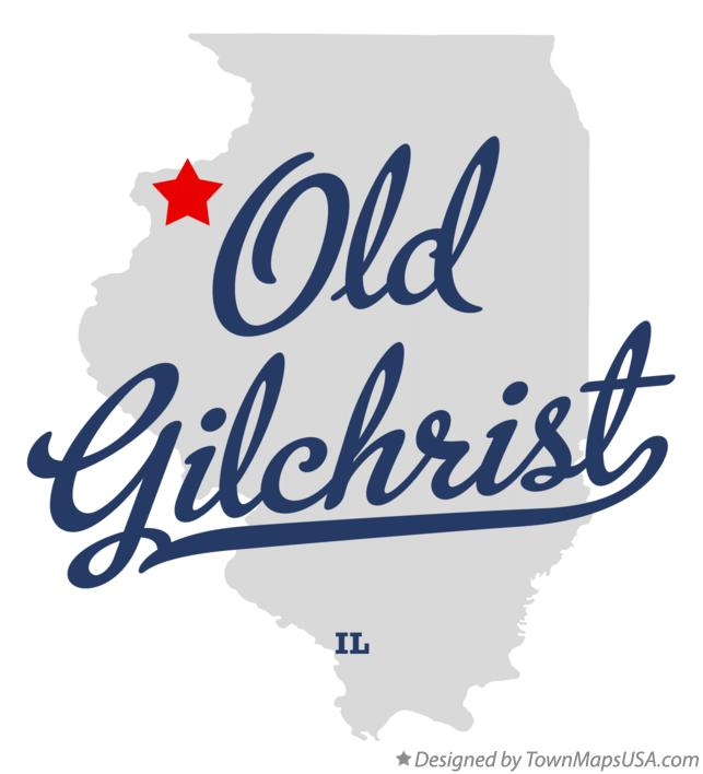Map of Old Gilchrist Illinois IL