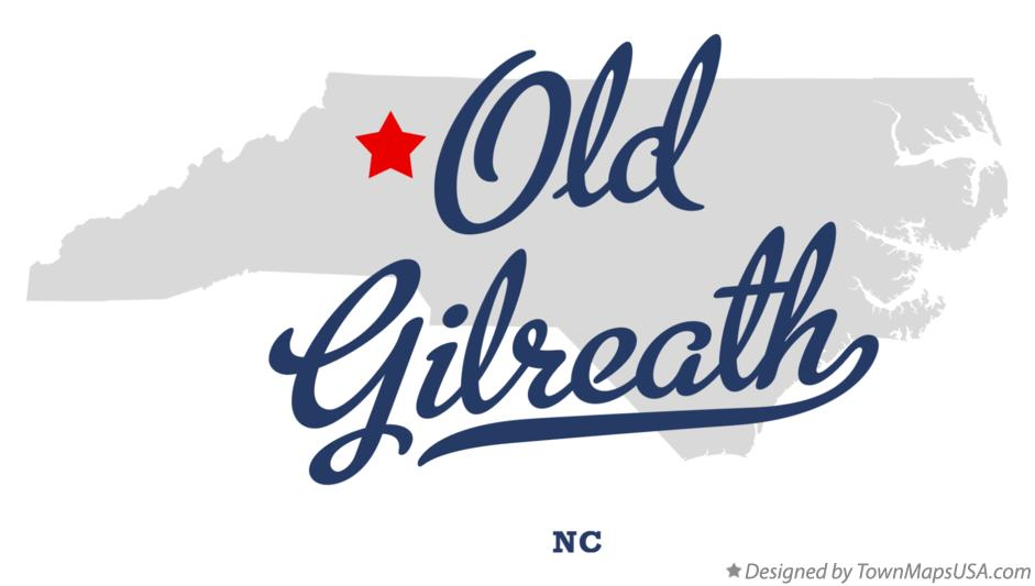 Map of Old Gilreath North Carolina NC