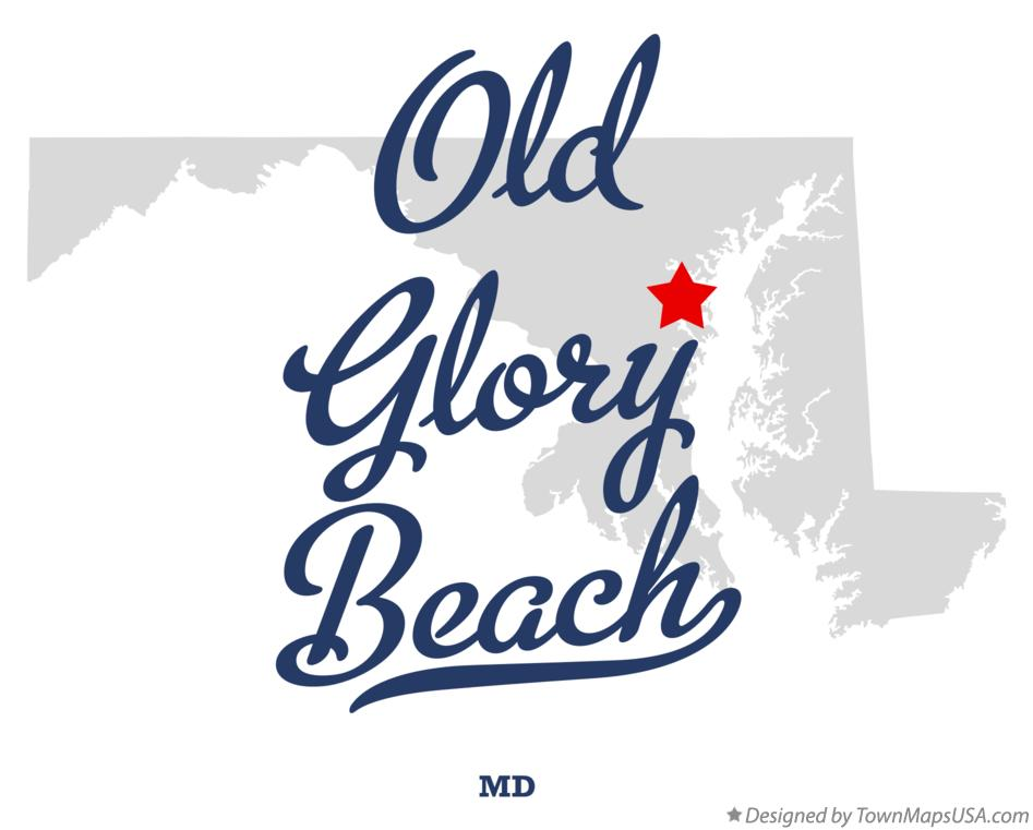 Map of Old Glory Beach Maryland MD