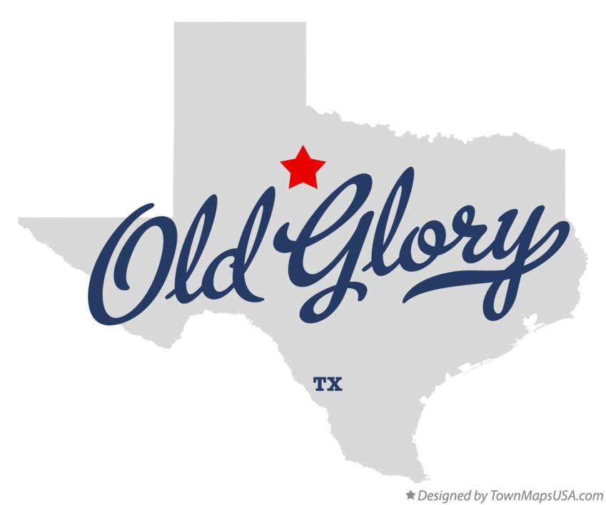 Map of Old Glory Texas TX