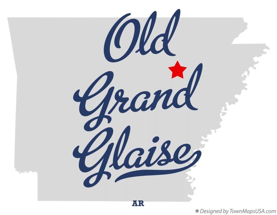 Map of Old Grand Glaise Arkansas AR
