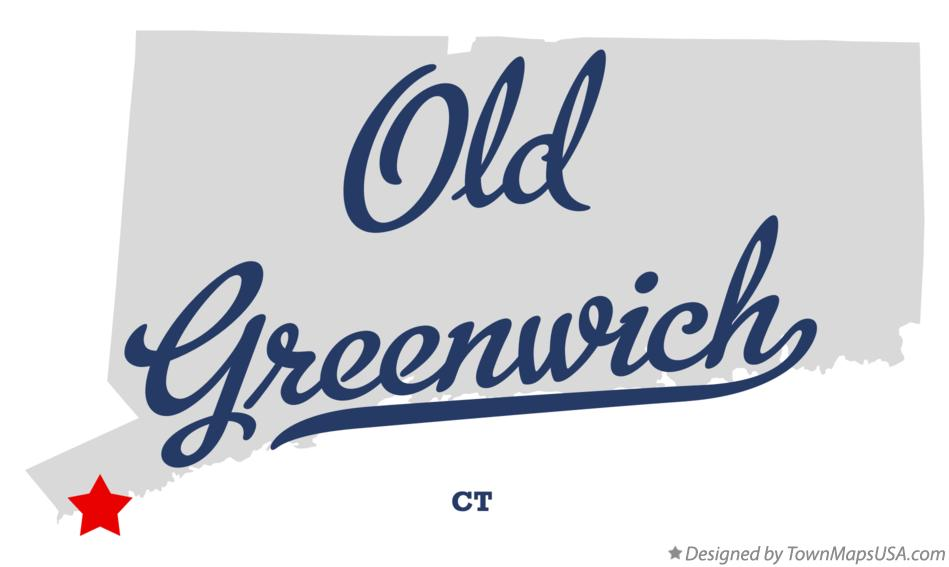 Map of Old Greenwich Connecticut CT