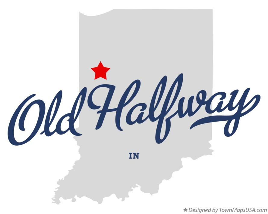 Map of Old Halfway Indiana IN