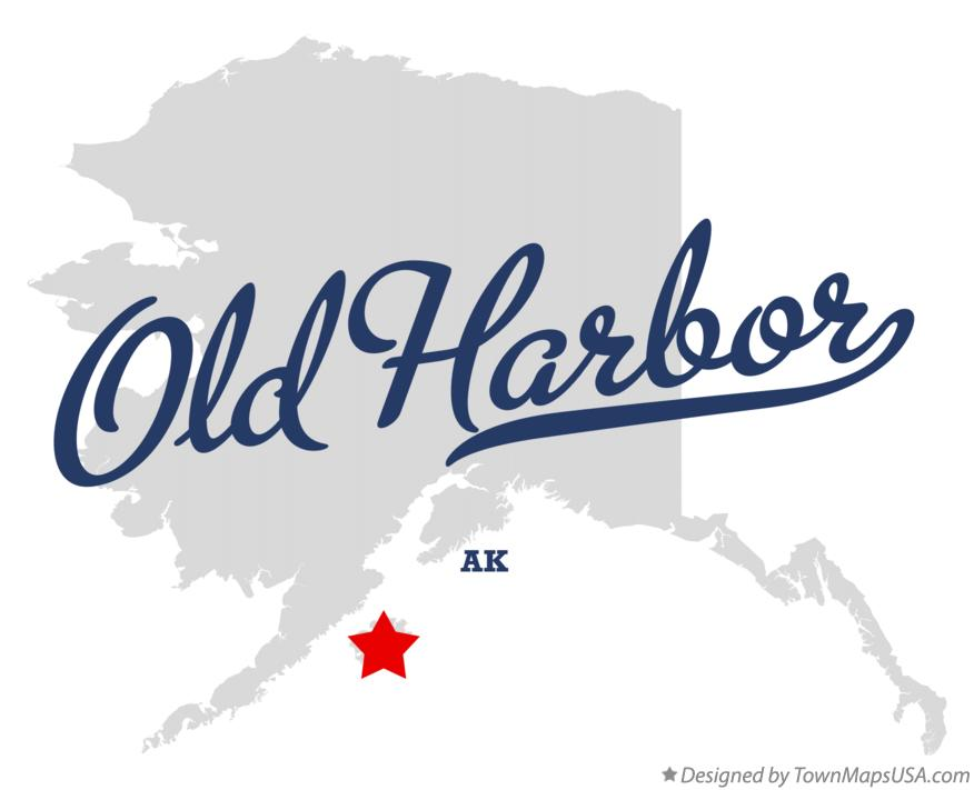 Map of Old Harbor Alaska AK