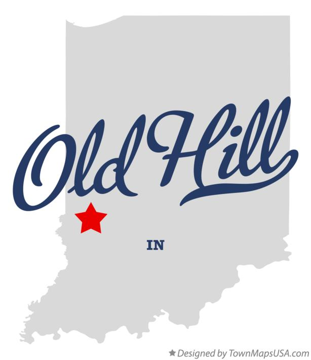 Map of Old Hill Indiana IN