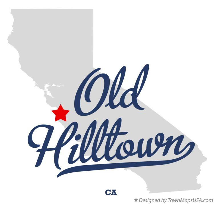 Map of Old Hilltown California CA