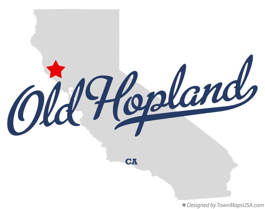 Map of Old Hopland California CA
