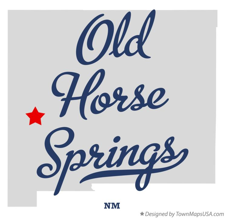 Map of Old Horse Springs New Mexico NM