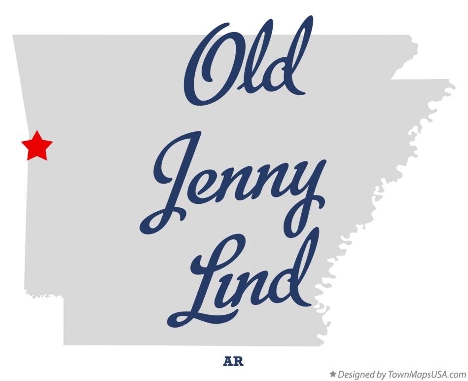 Map of Old Jenny Lind Arkansas AR