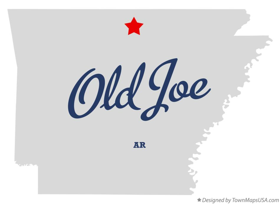 Map of Old Joe Arkansas AR