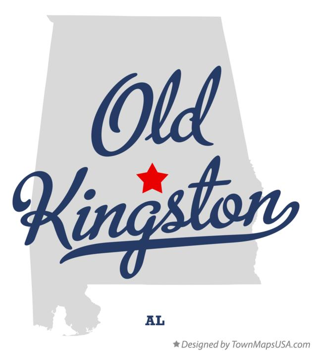 Map of Old Kingston Alabama AL