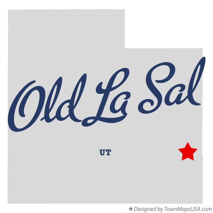 Map of Old La Sal Utah UT