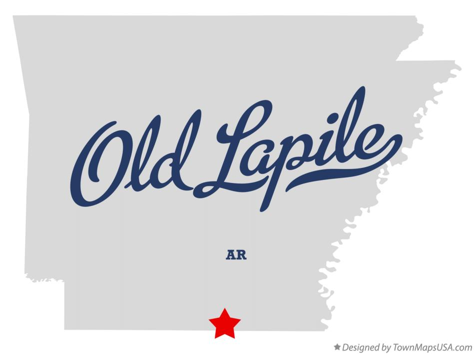 Map of Old Lapile Arkansas AR