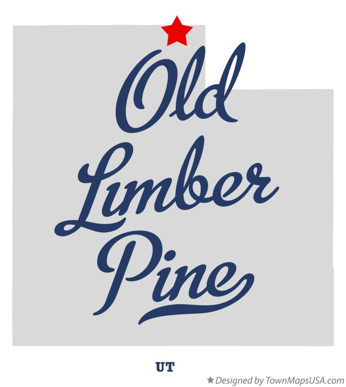 Map of Old Limber Pine Utah UT