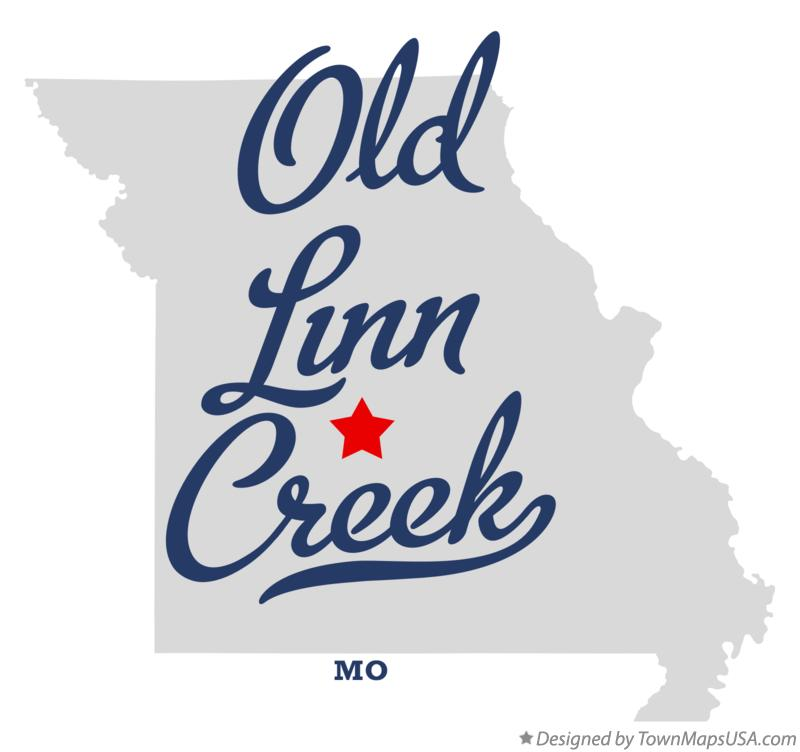 Map of Old Linn Creek Missouri MO
