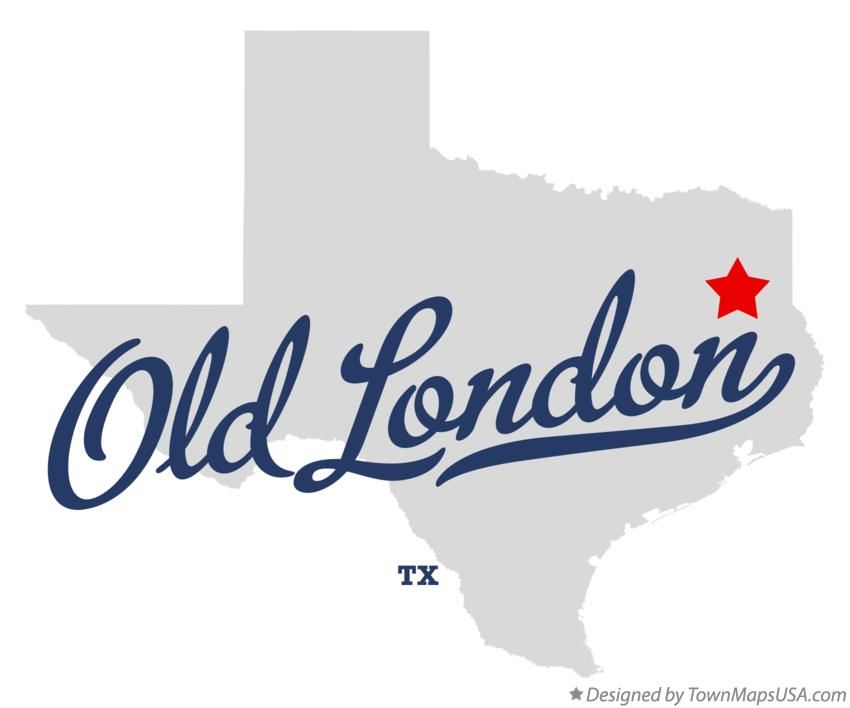 Map of Old London Texas TX