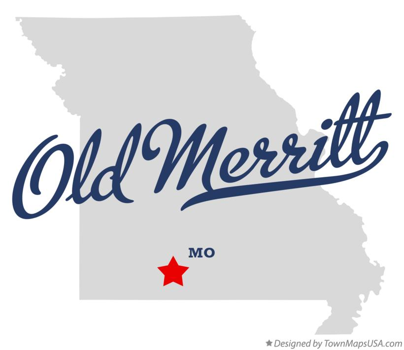 Map of Old Merritt Missouri MO
