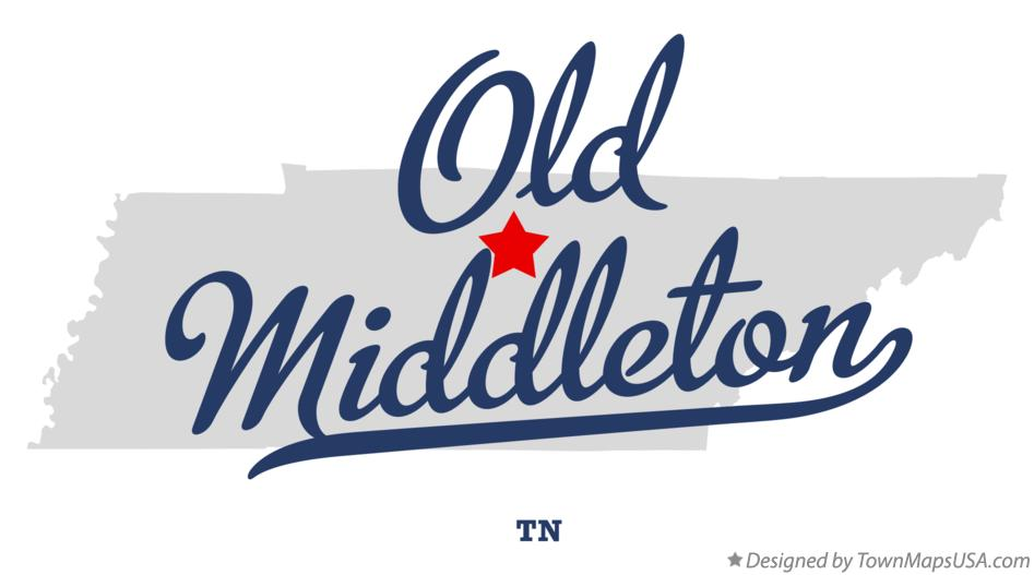 Map of Old Middleton Tennessee TN