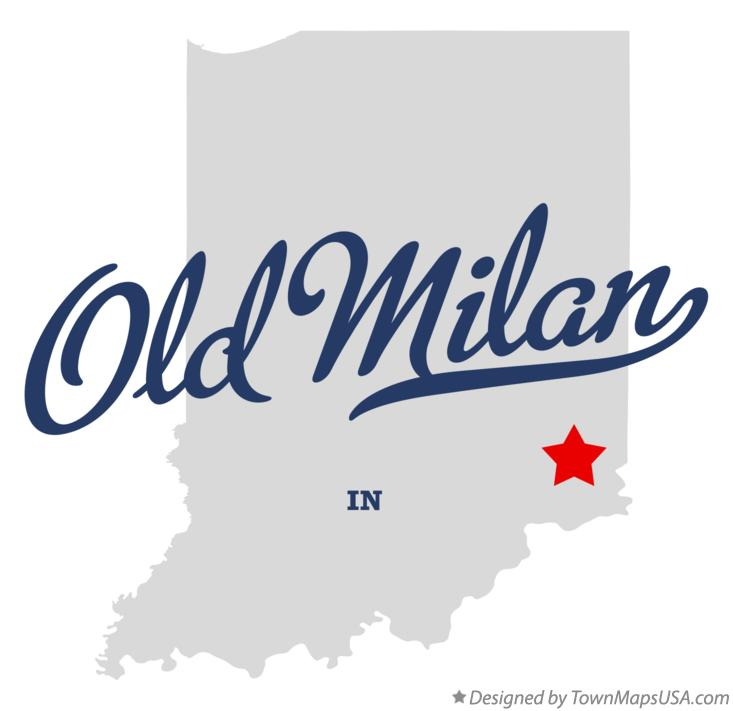 Milan Indiana Map.Map Of Old Milan In Indiana