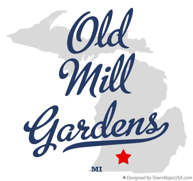 Map of Old Mill Gardens Michigan MI