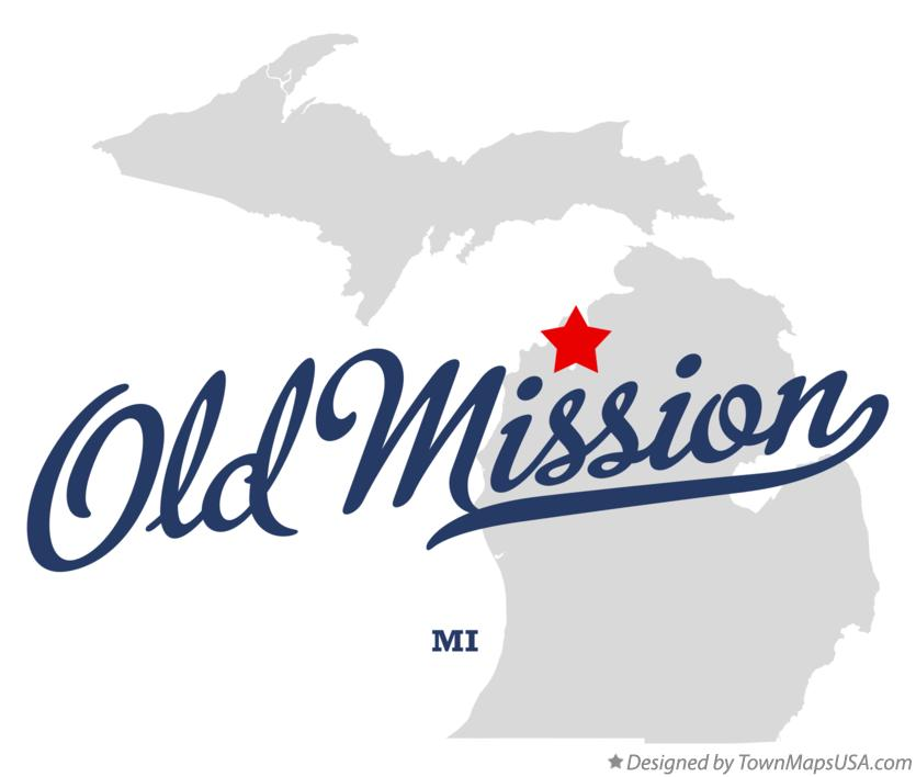 Map of Old Mission Michigan MI