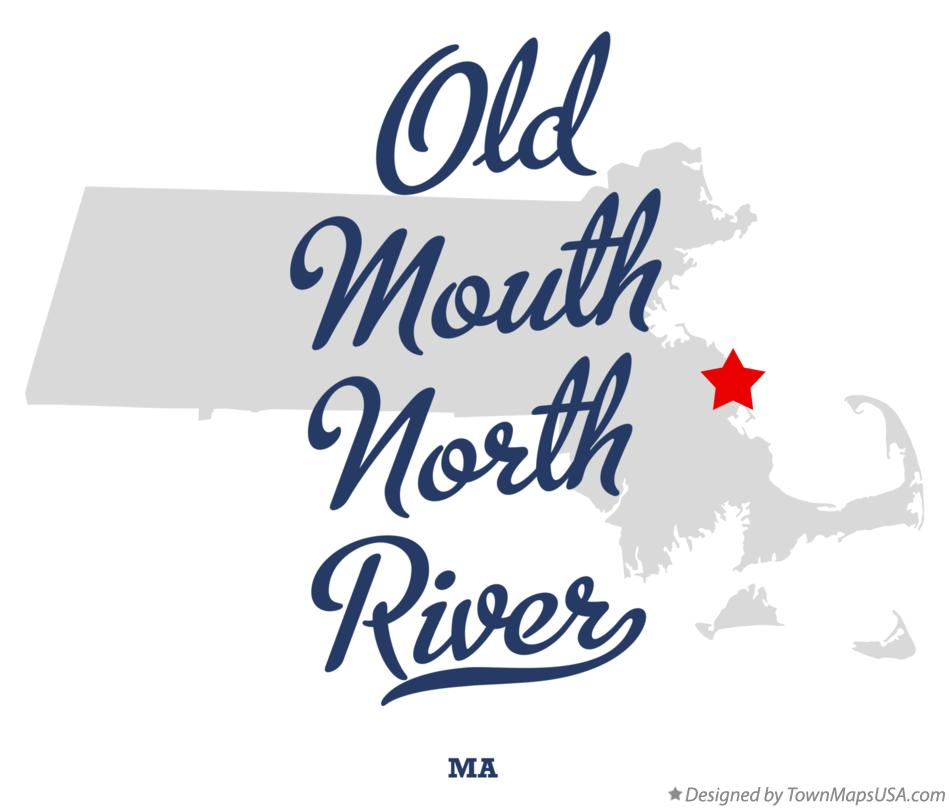 Map of Old Mouth North River Massachusetts MA