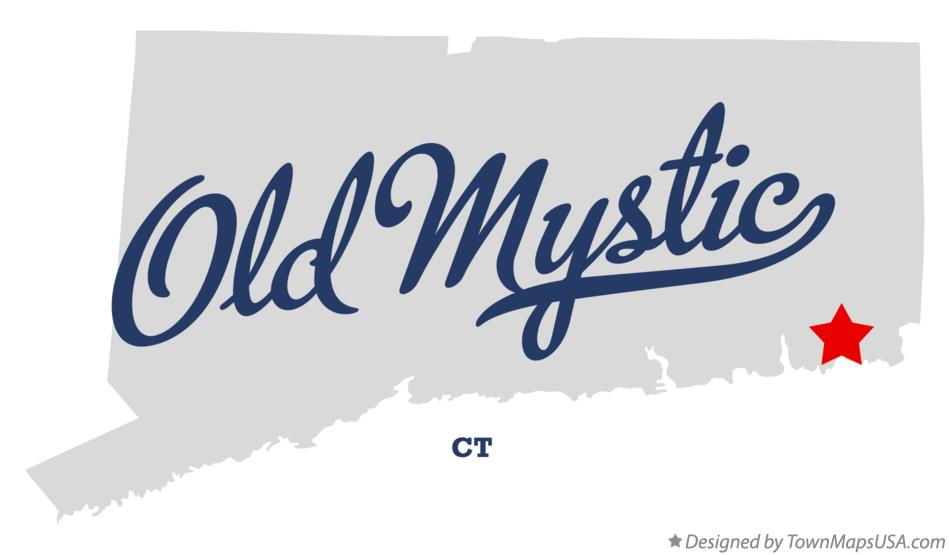 Map of Old Mystic Connecticut CT