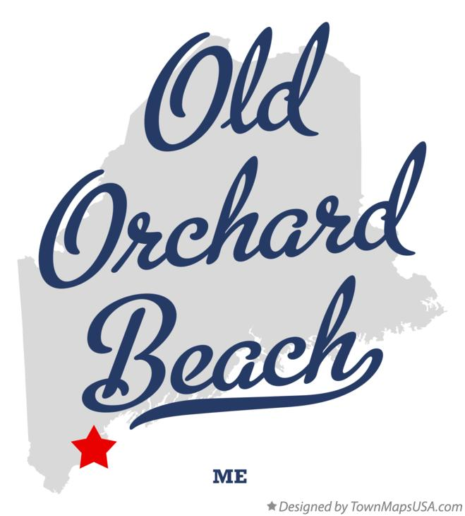 Map of Old Orchard Beach Maine ME