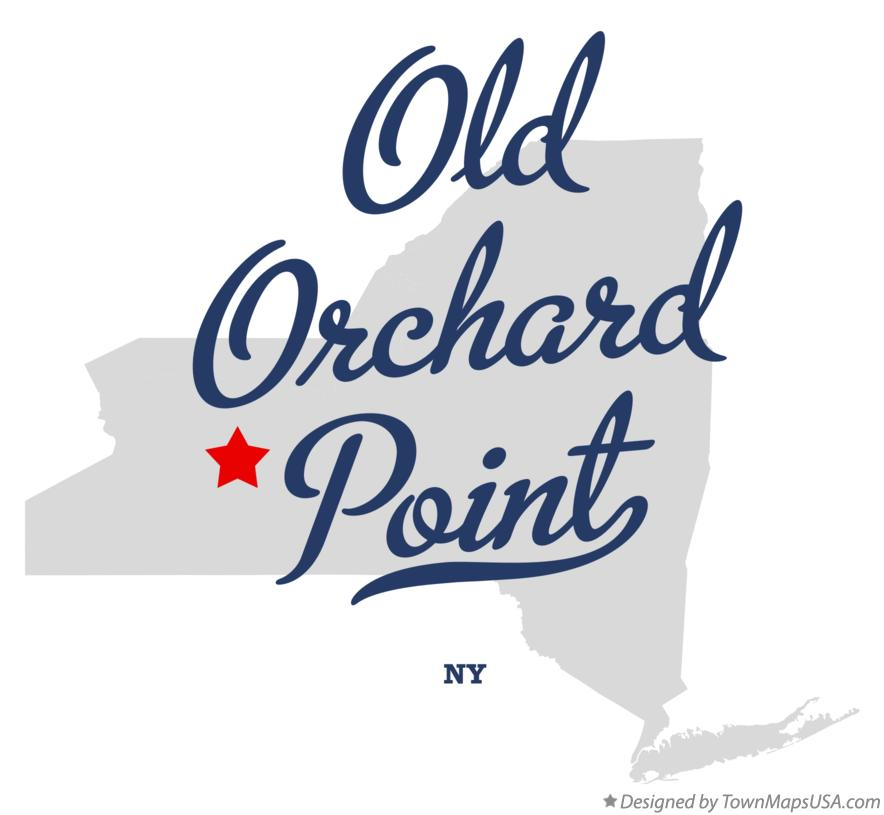 Map of Old Orchard Point New York NY