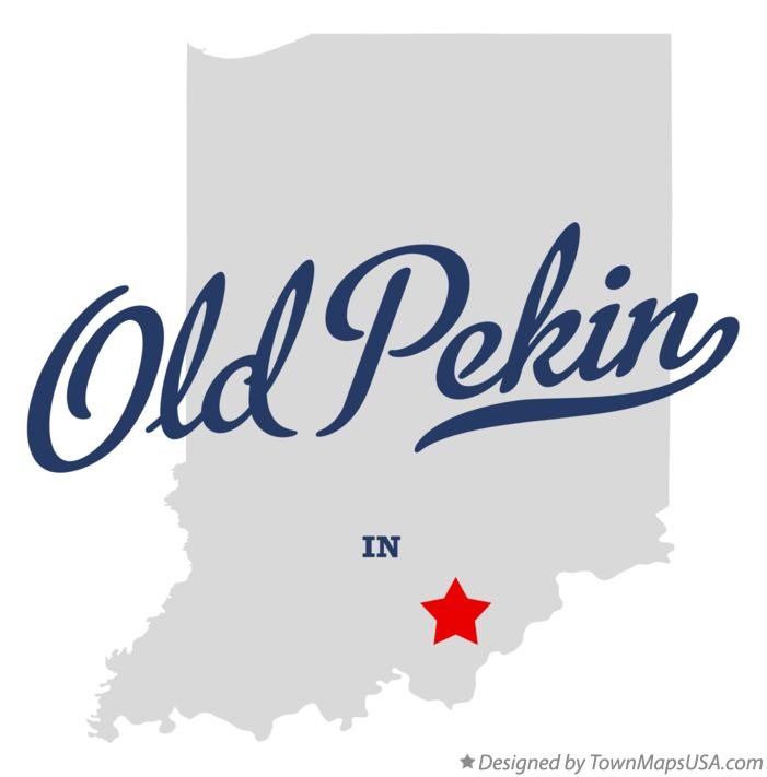Map of Old Pekin Indiana IN