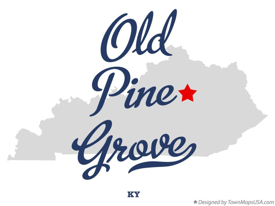 Map of Old Pine Grove Kentucky KY