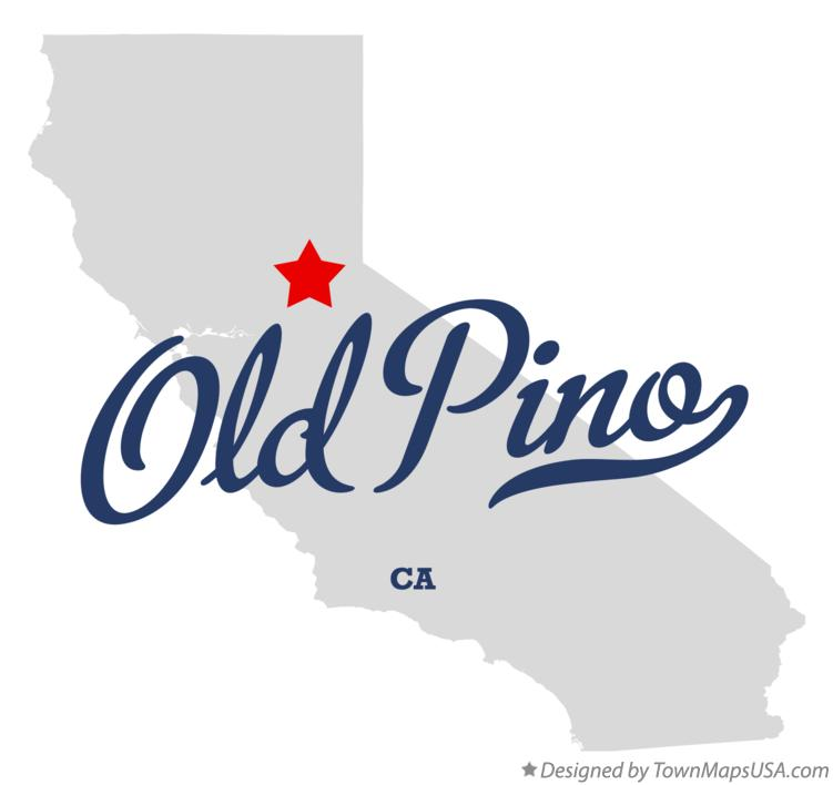 Map of Old Pino California CA