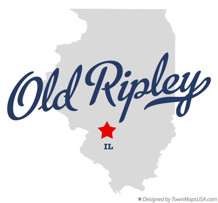 Map of Old Ripley Illinois IL