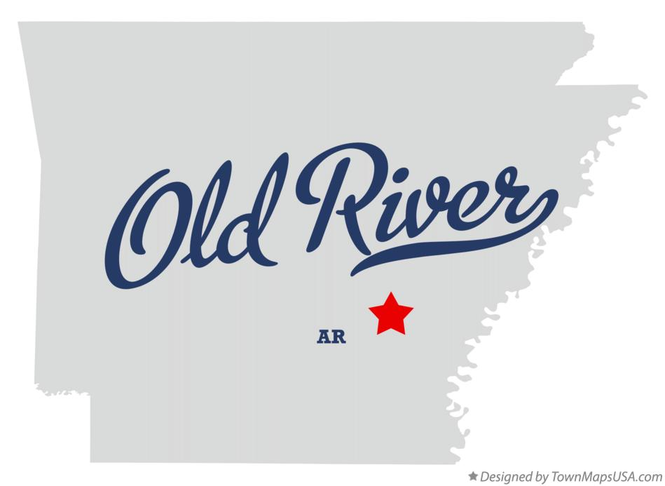 Map of Old River Arkansas AR