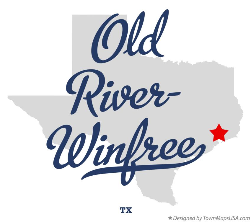 Map of Old River-Winfree Texas TX