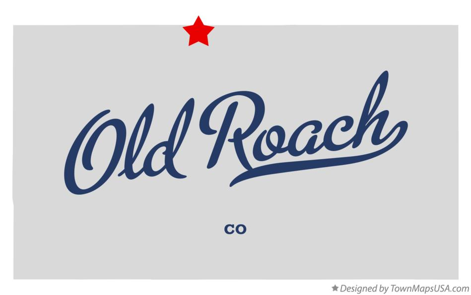 Map of Old Roach Colorado CO