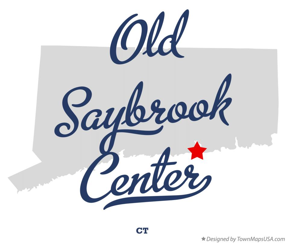 Map of Old Saybrook Center Connecticut CT