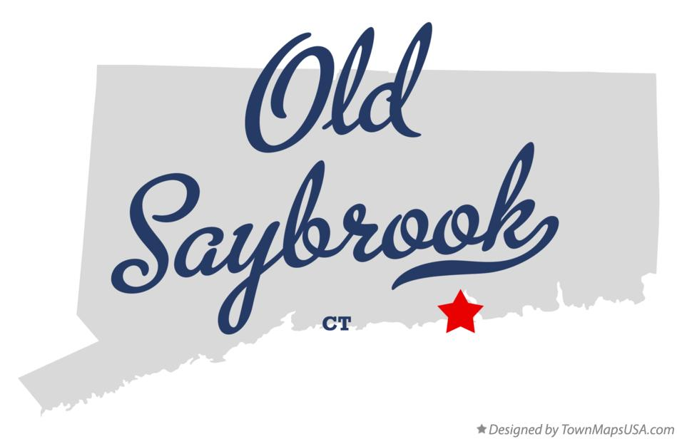 Map of Old Saybrook Connecticut CT