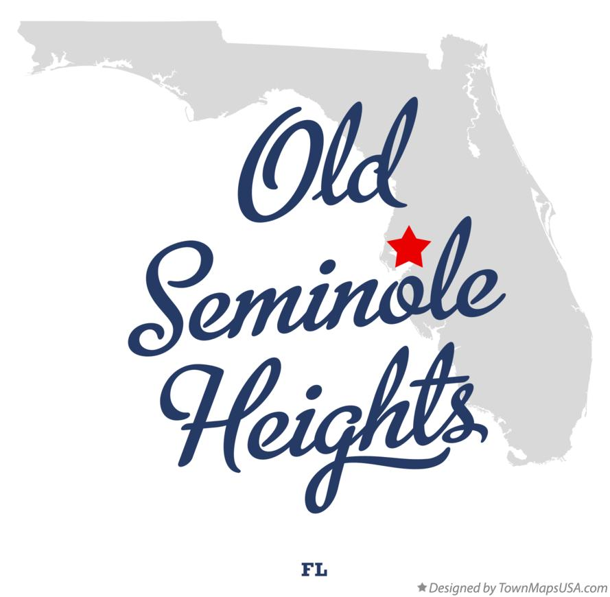 Map of Old Seminole Heights Florida FL