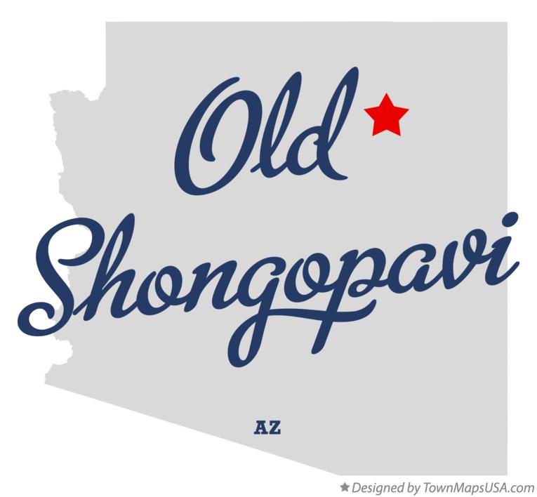 Map of Old Shongopavi Arizona AZ