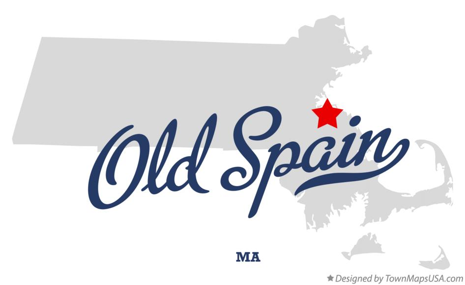 Map of Old Spain Massachusetts MA