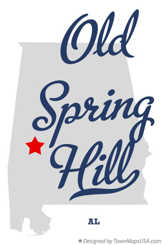 Map of Old Spring Hill Alabama AL