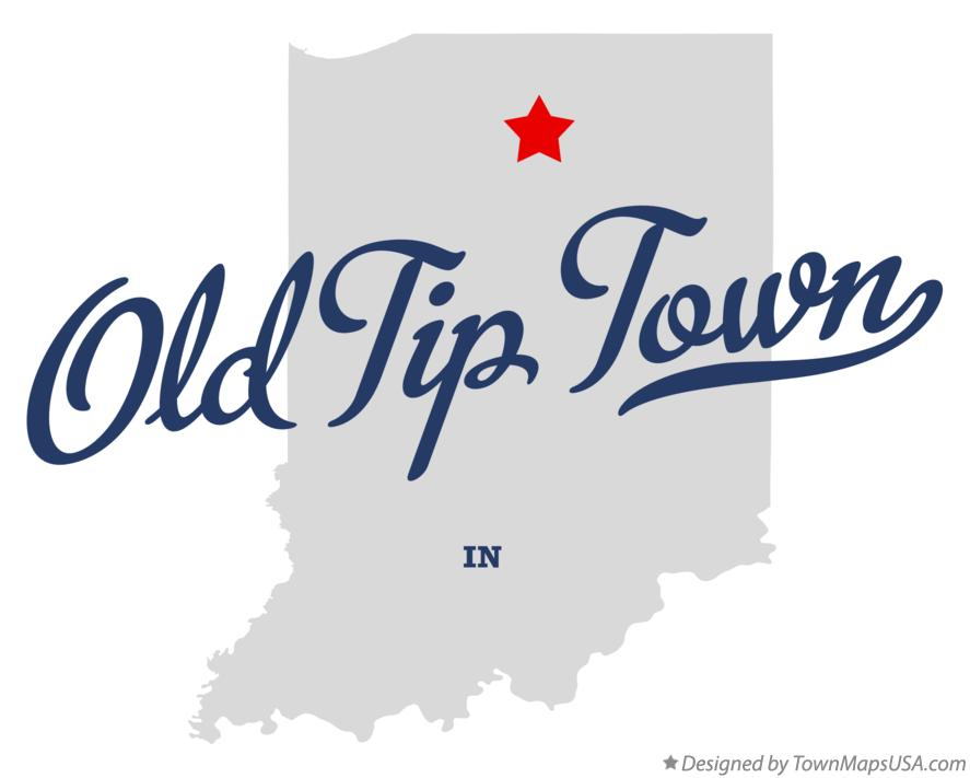 Map of Old Tip Town Indiana IN