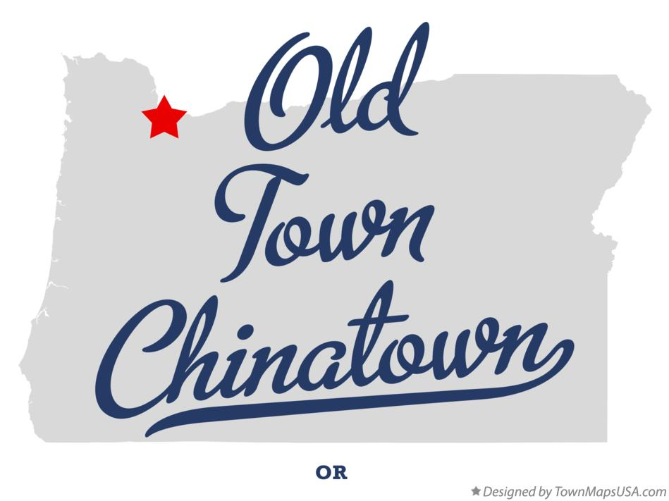 Map of Old Town Chinatown Oregon OR