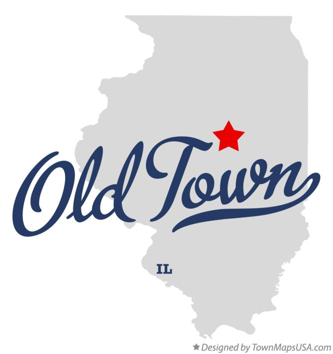 Map of Old Town Illinois IL