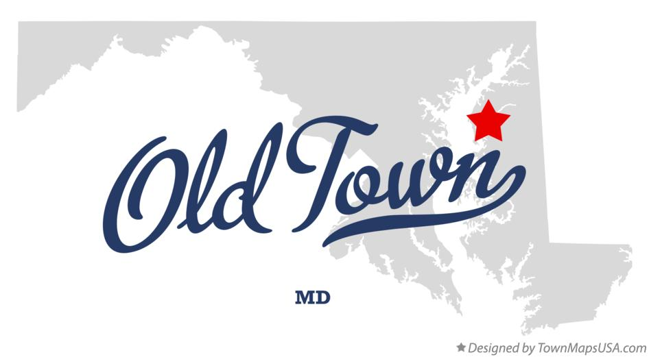 Map of Old Town Maryland MD