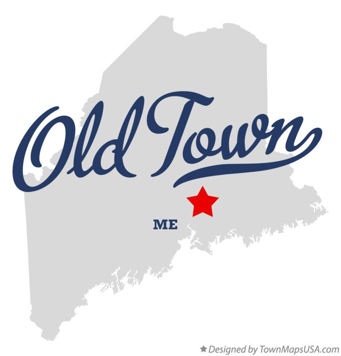 Map of Old Town Maine ME